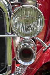Chrome vintage light and klaxon