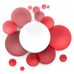 Red and white circle background