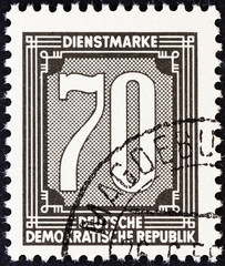 Numeric value stamp (German Democratic Republic 1956)