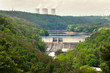Nuclear power plant Dukovany and dam in Czech Republic Europe