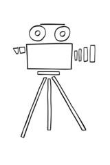 Hand Draw sketch of Video Camera
