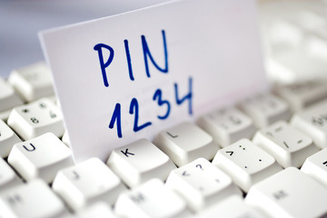 internet banking - PIN code and access control