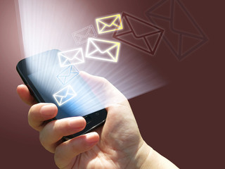 electronic ommunication - sending e-mails from mobile phone