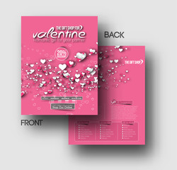 valentine's day greeting card vector design.