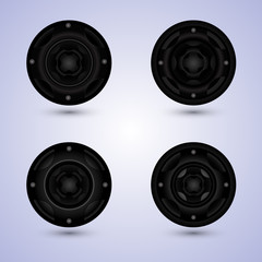 speakers set isolated on background