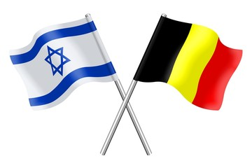 Flags : Israel and Belgium
