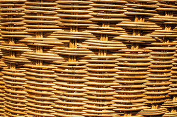 close of handmade natural basket . Texture and background