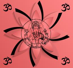 illustration of Ganesha, the symbol of OM