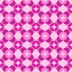 Seamless pink and purple Intersecting Circle Pattern