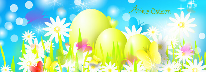 Frohe Ostern Banner