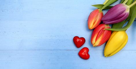 Tulpenstrauss mit Herz