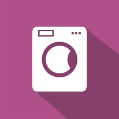 Icono lavadora morado sombra