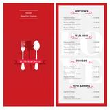 Special Valentine design template Cafe restuarant Menu