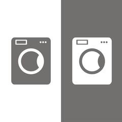 Icono lavadora BN