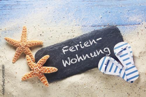 canvas print picture Ferienwohnung