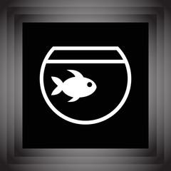 fish and aquarium icon vector