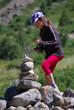 randonnée en montage - cairn