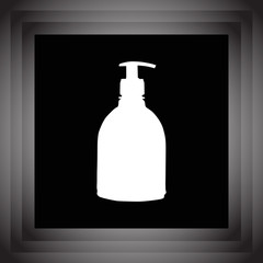 household detergent cleaning bottle vector icon