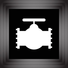 industry valve vector icon