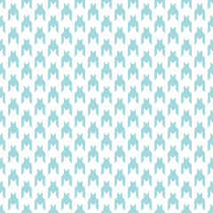 Vertical Seamless Houndstooth Pattern Turquoise/White