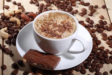 coffee with ice cream and a chocolate crumb