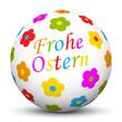 Kugel, Frohe Ostern, Osterkugel, Blumen, Grüße, Icon, Design, 3D