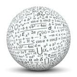 Fototapety Kugel, Mathematik, Formeln, Formelsammlung, Math, Texture, 3D