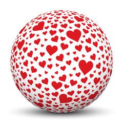 Kugel, Herz, Icon, Symbol, Heart, Love, Liebe, Sphere, 3D, Ball