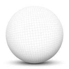 Kugel, Karopapier, Kariert, Ball, Sphere, Math, Textur, weiß, 3D