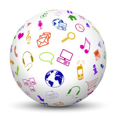Kugel, Multimedia, Icons, Zeichen, Symbol, Sphere, Texture, 3D