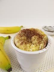 Mug Cake aus der Mikrowelle mit Banane und Kakao