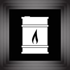 oil barrel vector icon