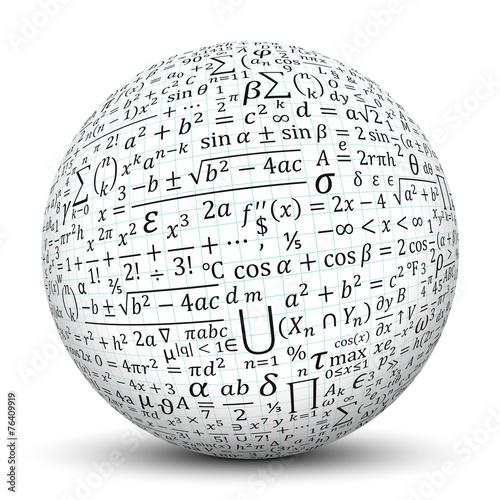 Kugel, Mathematik, Formeln, Formelsammlung, Math, Texture, 3D - 76409919