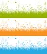 Frühling, Wiese, Gras, Schmetterlinge, Butterfly, Springtime, 2D