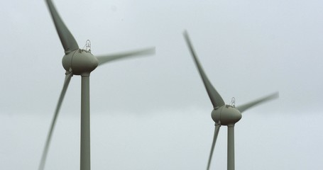 4K, 2 Windmills, Wind Turbines, Wind Generators