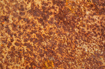 Rust on the metals, with paint residues