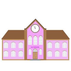 vector school building. educational icon.