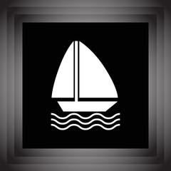 sailboat vector icon