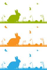 Ostern, Osterhase, Ostereier, Grußkarte, Easter, Card, Butterfly