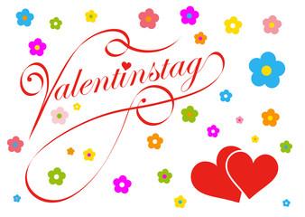Valentinstag, 14. Februar, Herz, Herzchen, Liebe, Vektor, Karte