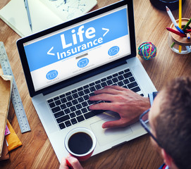 Life Insurance Protection Safety Retirement Concept