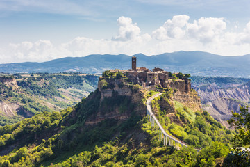 medieval town Bagnoreggio, Italy