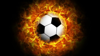 Fiery Sports Ball, with Alpha Channel