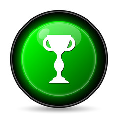 Winners cup icon. Internet button on white background..