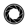 The diaphragm icon. Aperture symbol. - 76411381