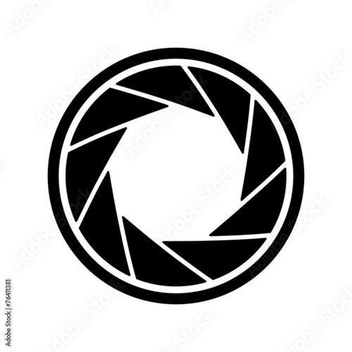 The diaphragm icon. Aperture symbol. - 76411381