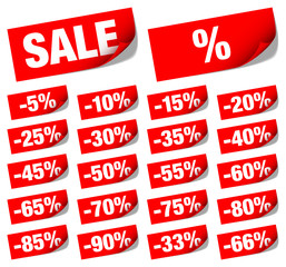 "Sticknotes Set ""Sale"" Minus Red"