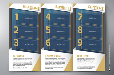 Brochure leaflet design tri-fold vector template