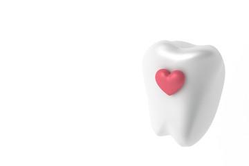 歯とハートのイラスト