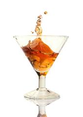 cocktail splash in the glass